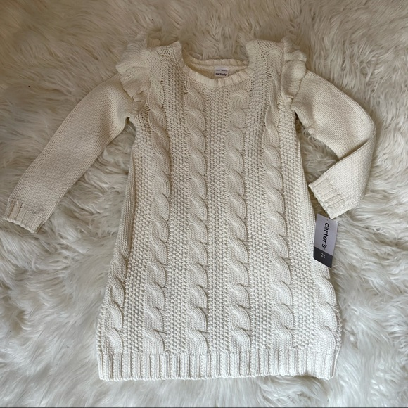 Carter's Cable Knit Sweater Dress - Toddler - 2T